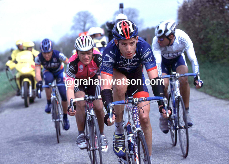 George Hincapie in the 2001 Amstel Gold Race