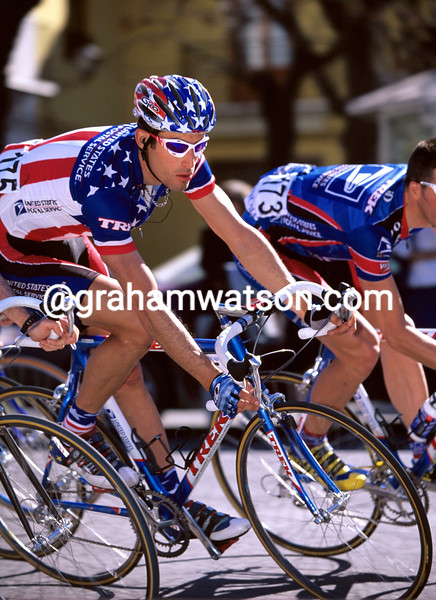 George Hincapie in the 2001 Tour of Valencia