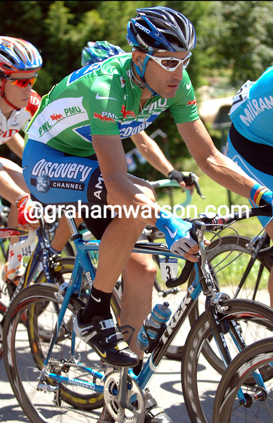 GEORGE HINCAPIE IN ACTION ON STAGE ONE OF THE 2006 TOUR DE FRANCE INTO STRASBOURG