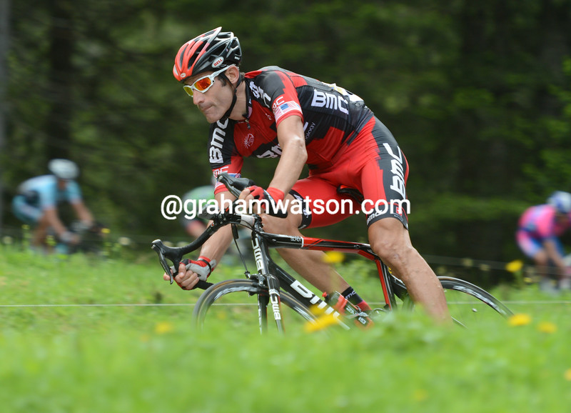 George Hincapie on stage six of the 2012 Dauphine-Libere