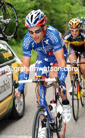 GEORGE HINCAPIE ON STAGE FOUR OF THE 2010 TOUR DE SUISSE