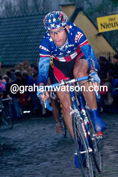 George Hincapie in the 1998 Tour of Flanders
