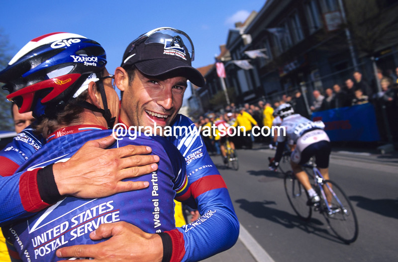 GEORGE HINCAPIE AFTER WINNING THE 2001 GHENT-WEVELGEM
