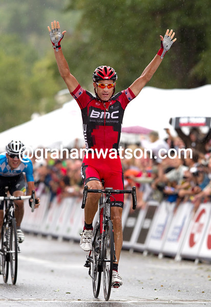 George Hincapie wins a stage of the 2010 Tour of California (Photo by Will Swetnam)