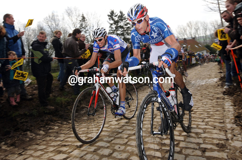 GEORGE HINCAPIE IN THE 2011 TOUR OF FLANDERS