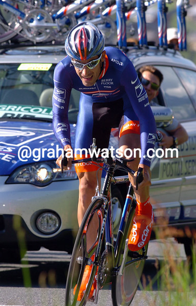 GEORGE HINCAPIE ON STAGE FOUR OF THE 2004 DAUPHINE-LIBERE