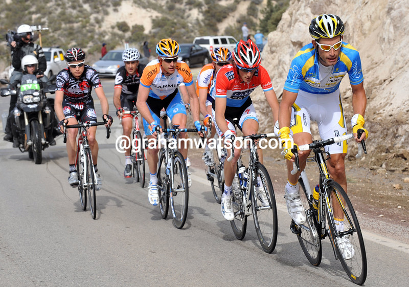 GEORGE HINCAPIE IN AN ESCAPE ON STAGE SEVEN OF THE 2009 TOUR OF CALIFORNIA