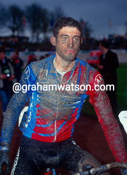 George Hincapie in the 1994 Paris-Roubaix