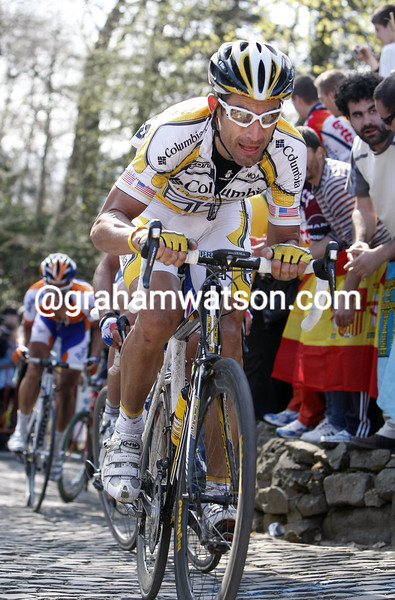 GEORGE HINCAPIE IN THE 2009 TOUR OF FLANDERS