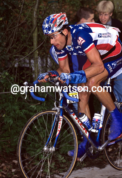 George Hincapie in the 1999 Tour of Flanders