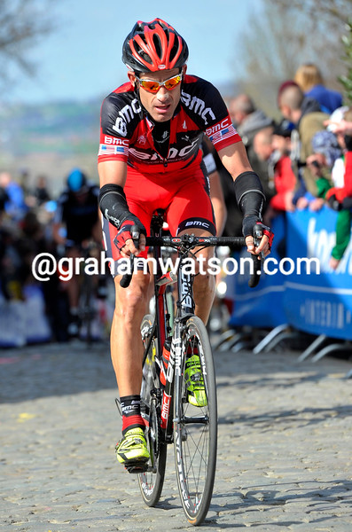 George Hincapie in the 2012 Tour of Flanders