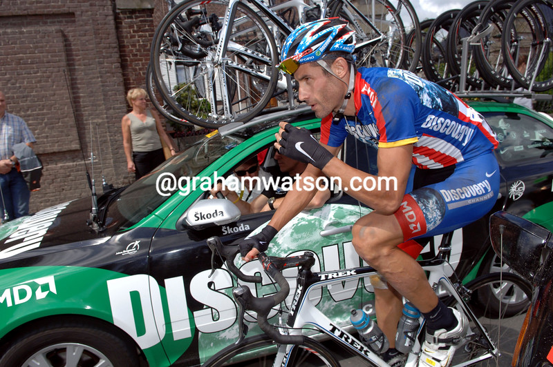 GEORGE HINCAPIE ON STAGE THREE OF THE 2007 TOUR DE FRANCE