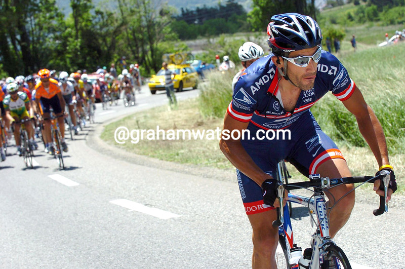 GEORGE HINCAPIE IN A STAGE OF THE 2004 DAUPHINE-LIBERE