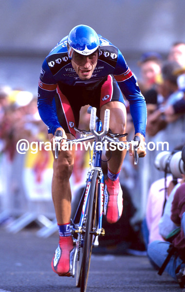 GEORGE HINCAPIE IN THE 1999 TOUR DE FRANCE PROLOGUE