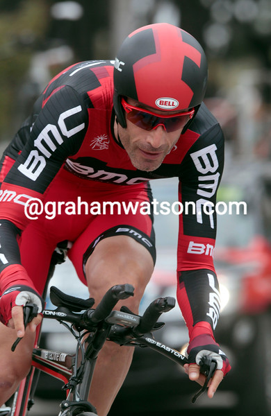 GEORGE HINCAPIE ON STAGE SEVEN OF THE 2011 TIRRRENO-ADRIATICO