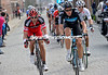 MATTHEW HAYMAN AND GEORGE HINCAPIE IN THE 2011 GHENT WEVELGEM RACE