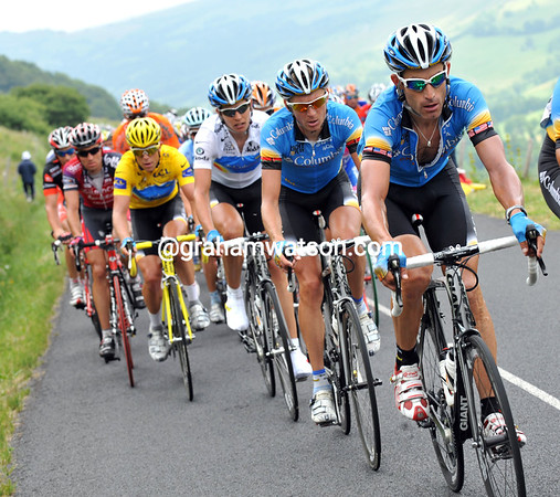 GEORGE HINCAPIE LEADS TEAM COLUMBIA ON STAGE SEVEN OF THE 2008 TOUR DE FRANCE