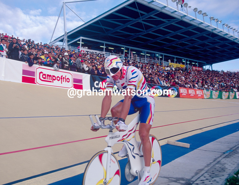 Miguel Indurain in an Hour Record in 1995