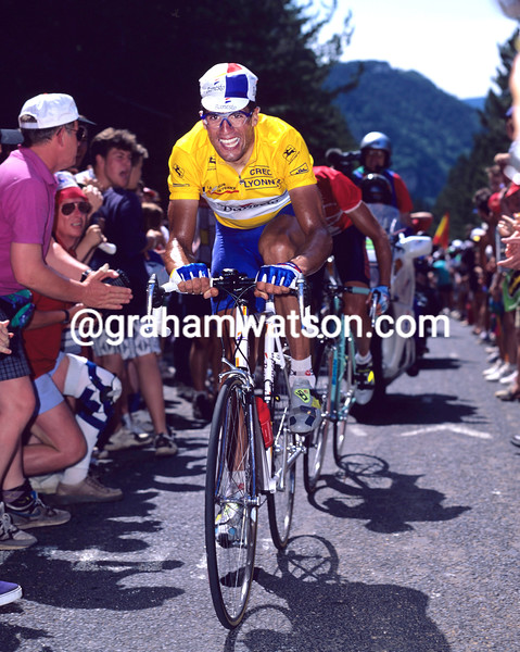 MIGUEL INDURAIN races to Mende in the 1995 Tour de France