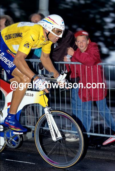 Miguel Indurain in the 1996 Tour de France prologue