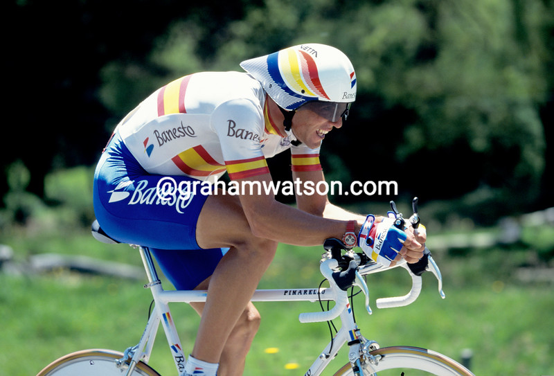Miguel Indurain in the 1995 World Time Trial Championship