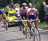 Miguel Indurain and Johan Bruyneel in the 1995 Tour de France