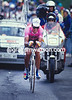 Miguel Indurain on a stage of the 1993 Giro d'Italia