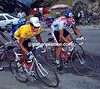 Miguel Indurain and Tony Rominger in the 1992 Tour de France