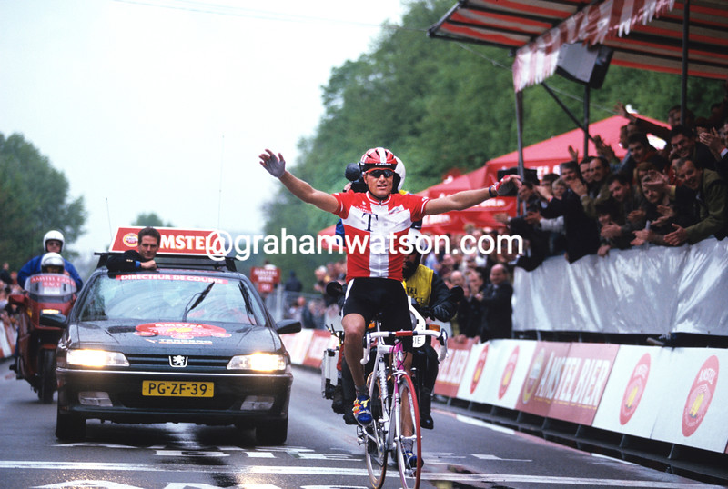 Bjarne Riis in the 1996 Amstel Gold Race