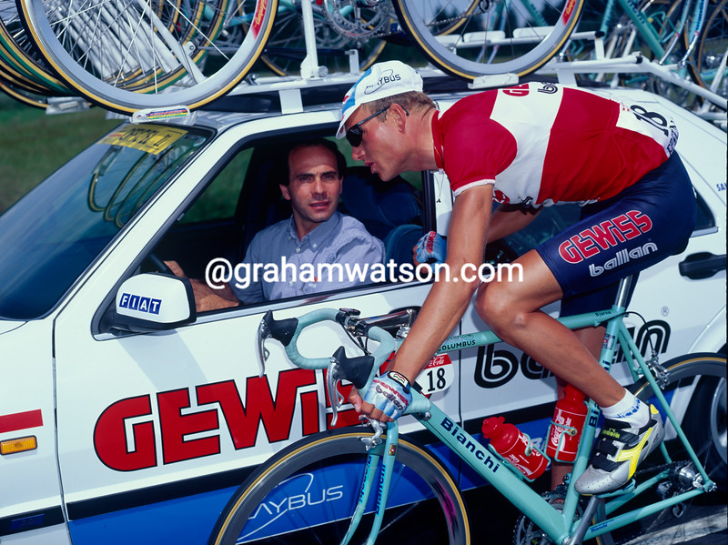 Bjarne Riis in the 1993 Tour de France