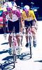 Bjarne Riis leads Jan Ullrich in the 1997 Tour de France