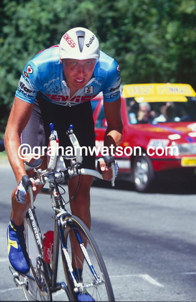 Bjarne Riis in the 1995 Tour de France