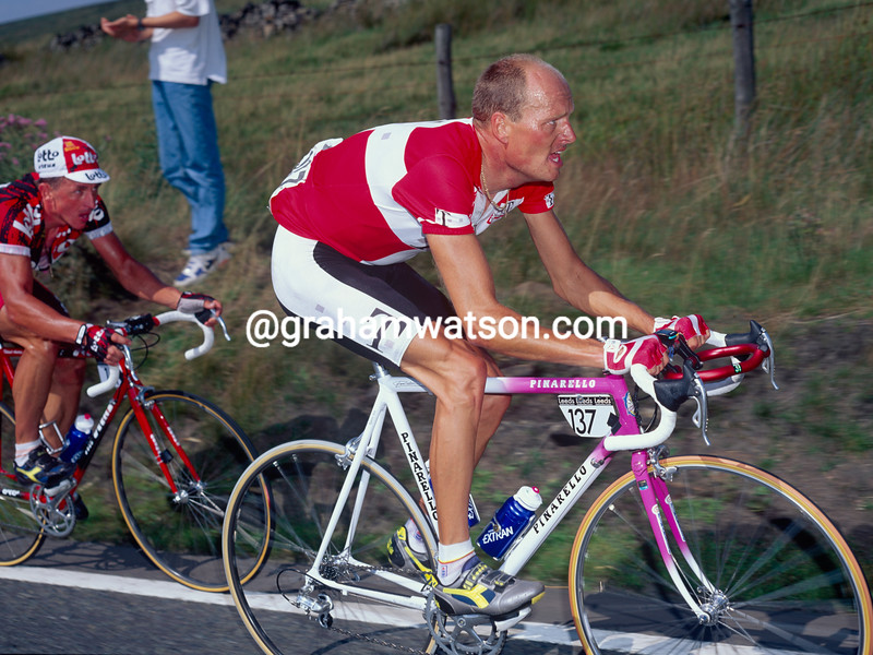 Bjarne Riis in the 1996 Leeds Classic