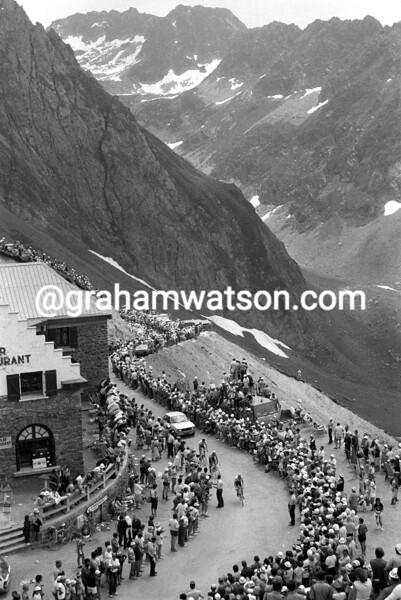 THE 1983 TOUR DE FRANCE CROSSES THE COL DU TOURMALET