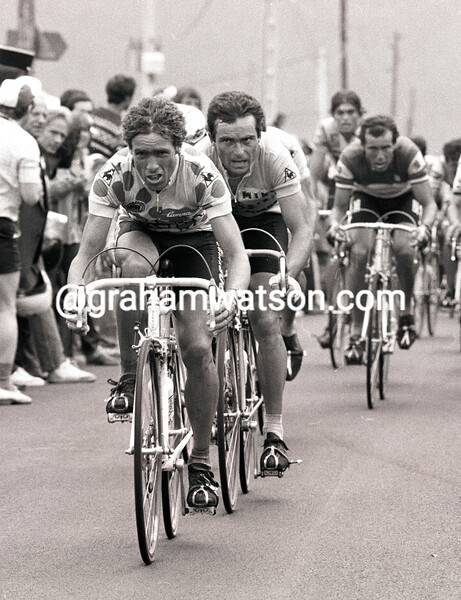 LUCIEN VAN MPE AND BERNARD HINAULT IN THE 1982 TOUR DE FRANCE