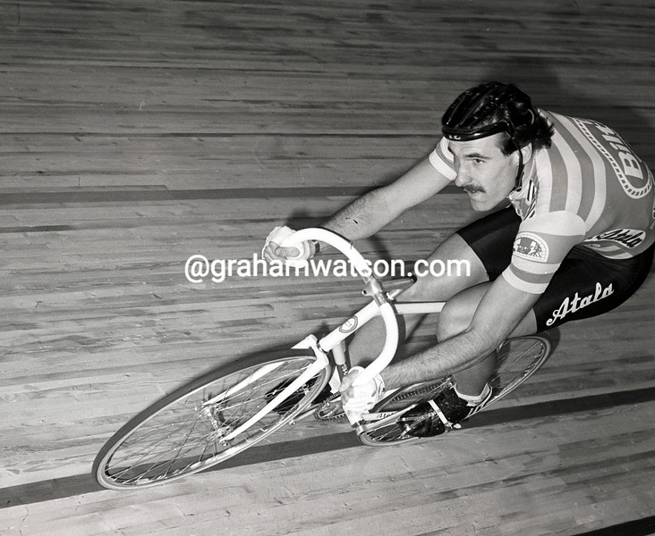 URS FREULER IN THE 1982 GHENT SIX-DAY RACE
