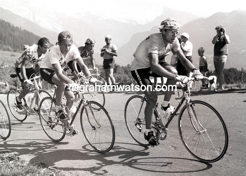 LAURENT FIGNON AND GREG LEMOND IN THE 1983 TOUR DE FRANCE