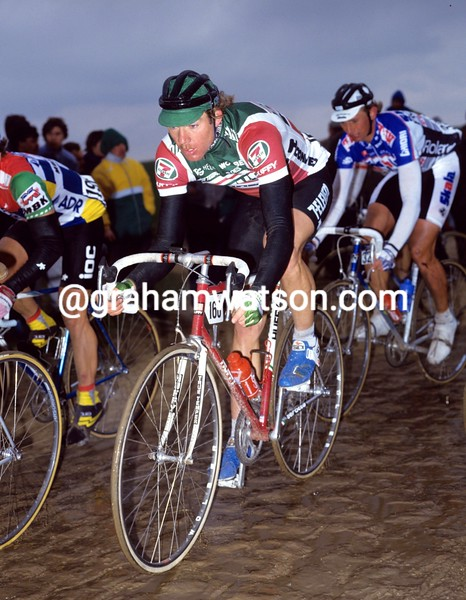 Bob Roll in the 1987 Paris-Roubaix