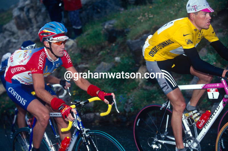 Bobby Julich and Jan Ullrich in the 1998 Tour de France