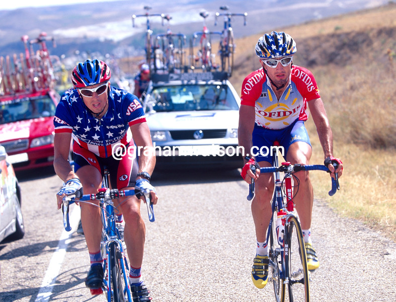 Bobby Julich and Marty Jemison in the 2000 Ruta del Sol
