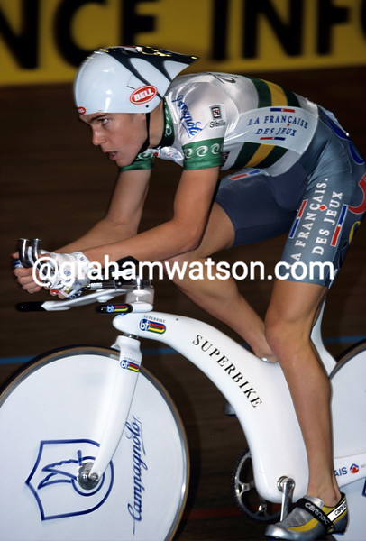 Bradley McGee in the 2001 World Track Championships