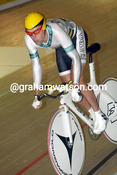 Bradley McGee in the 2002 World Track Championships
