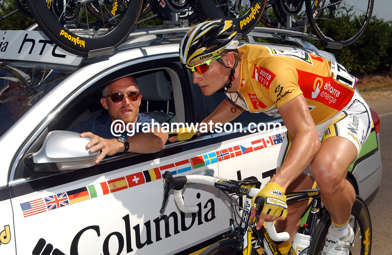 ANDRE GREIPEL AND BRIAN HOLM IN THE 2009 TOUR OF SPAIN