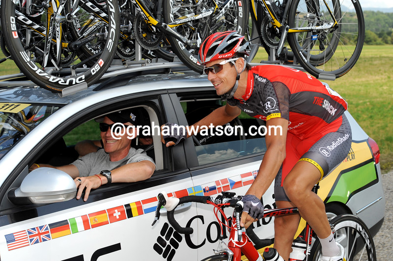 ANDREAS KLODEN AND BRIAN HOLM IN THE 2006 TOUR DE FRANCE