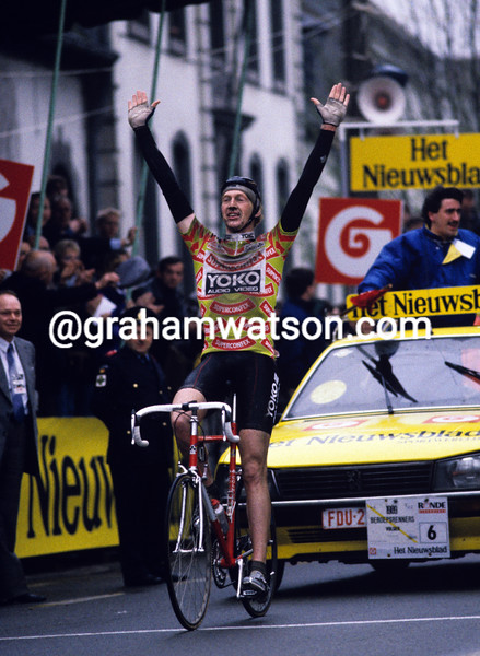 Edwig Van Hooydonck in the 1989 Tour of Flanders