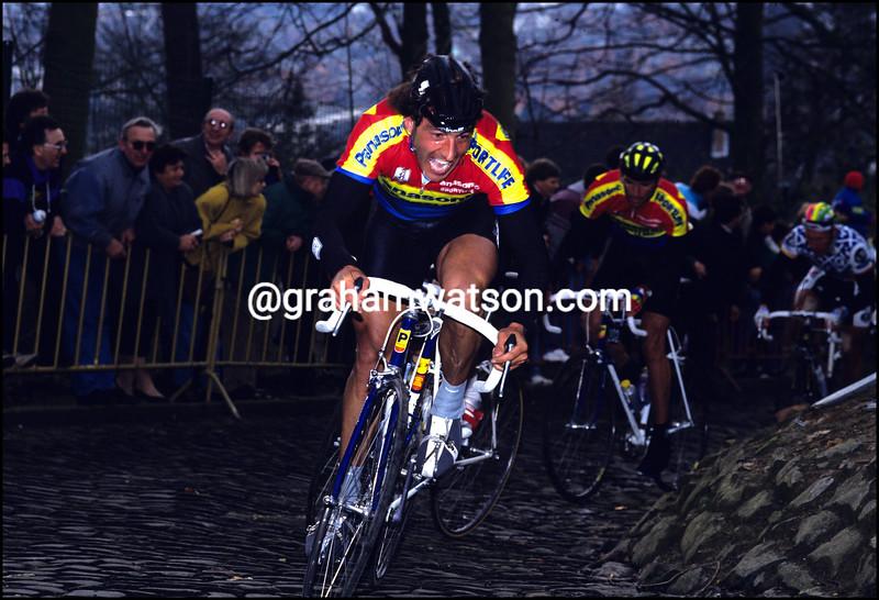 Eddy Planckaert in the 1990 Omloop Het Volk