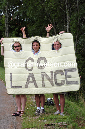 English fans in the 2004 Tour de France