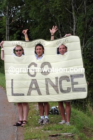 English fans in the 2004 Tour de France