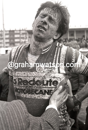 PAUL SHERWEN AFTER FINISHING PARIS-ROUBAIX