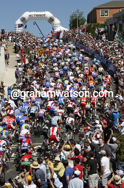 THE PELOTON IN THE 2010 ELITE MENS WORLD ROAD CHAMPIONSHIPS